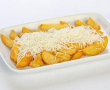 French fries traditional recipe with cheese